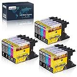 OfficeWorld Sostituzione per Brother LC1240 LC1280XL Cartucce d'inchiostro Compatibile per Brother MFC-J430W MFC-J6510DW MFC-J5910DW MFC-J6910DW MFC-J825DW MFC-J6710DW DCP-J525W MFC-J625DW
