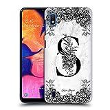 Head Case Designs Ufficiale Nature Magick Lettera S B&W Marmoreo Monogramma 2 Cover Dura per Parte Posteriore Compatibile con Samsung Galaxy A10 (2019)