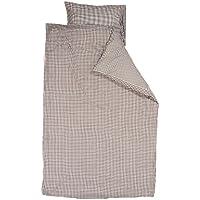 Brown Taftan Checks Small// Big Duvet Cover Set 100 x 135cm for Cot