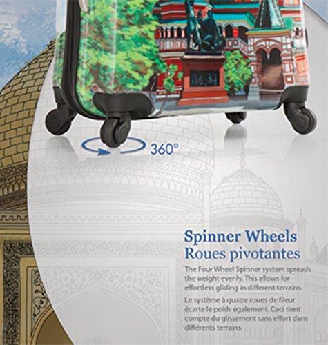 ... 50% SALE ... PREMIUM DESIGNER Hartschalen Koffer - Heys Core XCase Spinner Taupe Trolley mit 4 Rollen Medium World Wonders
