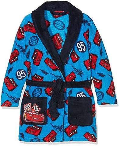 Disney Cars Lightning 95, Robe de Chambre Garçon, Bleu, 3-4 Ans