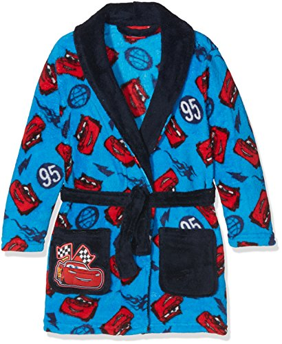Disney Jungen Bademantel Cars Lightning 95 Blau, 3-4 Jahre