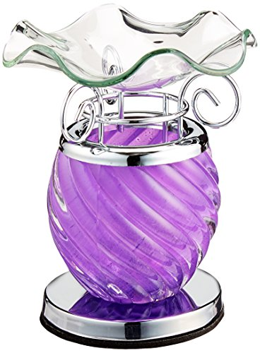 StealStreet ss-a-58809Lavendel Spirale Decor Sammlerstück Glas Ölbrenner Wärmer Aromatherapie -