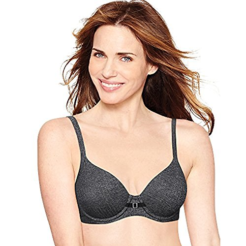 Hanes Ultimate ComfortBlend T-Shirt Natural Lift Underwire Bra_BK Stripe Heather_40B