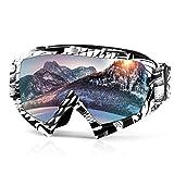 Occhiali da sci con protezione UV Protezione anti-nebbia per uomini, donne e giovani da Waitiee per snowboard da sci, sci, skate, ciclismo, motocicletta (white)
