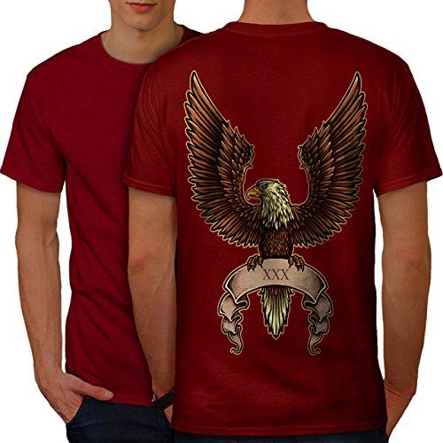 wellcoda Adler Flügel Verbreitung Männer 2XL Ringer T-Shirt (Flügel Ringer T-shirt)