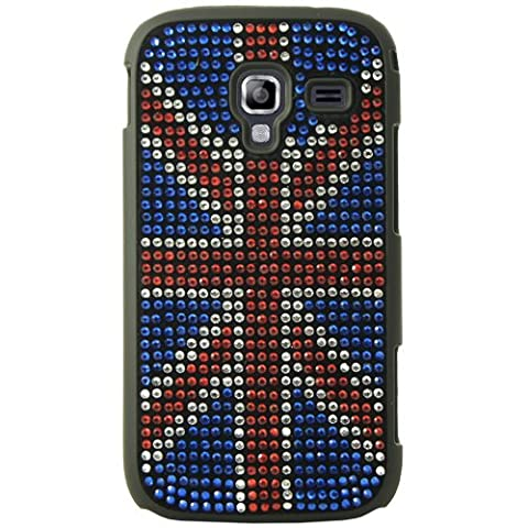 Mocca Design Strass Coque pour Samsung Galaxy Ace 2 Drapeau d'Angleterre