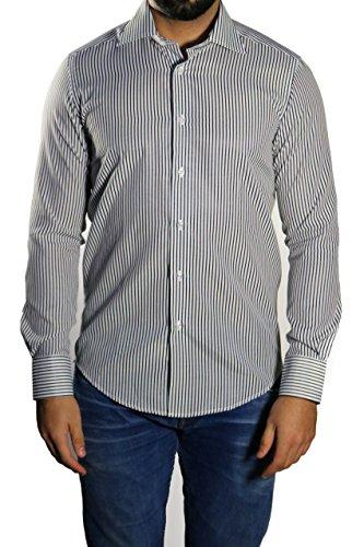 Streifen Herren Hemd Slim-fit/Tailliert Muga Blau