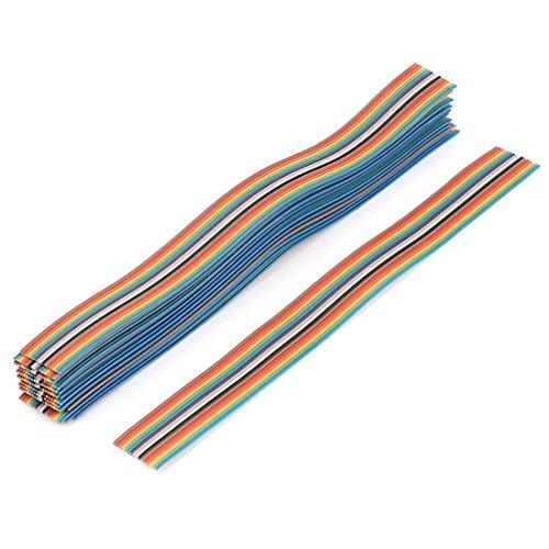 20Stk 200mm 16-Pin Flachbandkabel Flachkabel Regenbogen Farbe IDC Jumper Kabel (Fc-kupfer-kabel)
