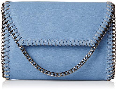 Pochette In Vera Pelle Catenina Damasco Winchester Swankyswans Tan Tasche Blau