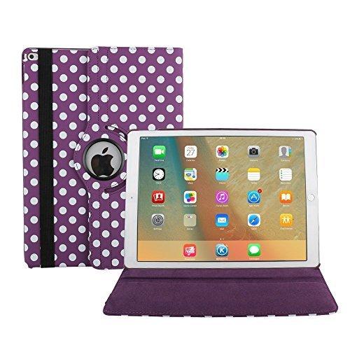 7,9 Zoll iPad Mini 4 Hülle, TechCode 360 Grad Rotation Ständer PU Leder Tasche Schutzhülle Folio Weiche Gummi Hülle Case Cover Tasche Etui für Apple iPad Mini 4 7.9'' 7,9 Inch (iPad Mini 4, Lila)