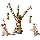 Gato Juguete, Legendog Árbol de Juguete de Gato con Zanahoria Colgante Sisal Cat Scratcher Gato Juguete Interactivo para Gatitos