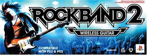 PS2/PS3 Rock Band 2 Standalone Guitar by MTV - Ps2 Rock Band