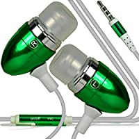 (Green) HOMTOM S8 stylish Quality Aluminium In Ear Earbud Stereo Hands Headphones Ear phone Headset with Built in Micro phone Mic & On-Off by i -Tronixs