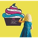 MYVINILO - Vinilo decorativo pizarra - Cupcake (50 x 50 cm)