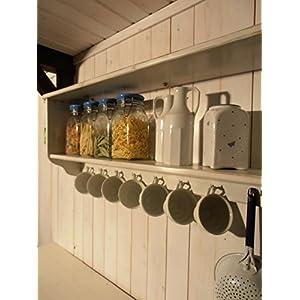 Küchenregal XXL , Wandregal, Badregal , Regal im Shabby Cic , Vintage -Stil,Retro - Design . Außenmaße : Länge 110 cm , Höhe 40 cm , Tiefe 20 cm