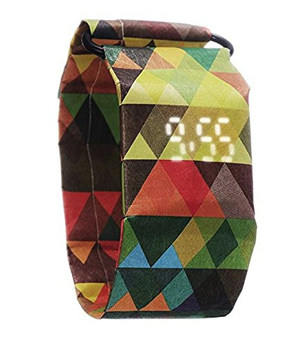 MagicWatch - die besondere Uhr aus Tyvek - Armbanduhr Frauen - Armbanduhr Herren (TriColor)