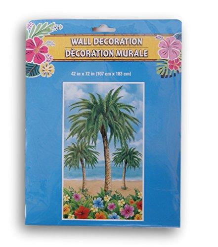 che Räume Beach Mottoparty Deko Tür Oder Wand Banner-106,7x 182,9cm Palmen ()