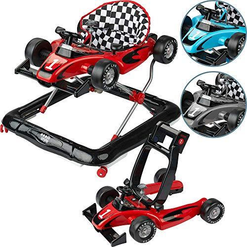 *Ib style® Little Racer |2 in 1|Gehfrei|Lauflernwagen|Licht & Melodie|EN 1273:2005 | BLAU*