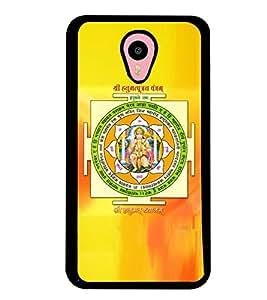 Fuson Premium Sri Hanuman Yantra Metal Printed with Hard Plastic Back Case Cover for Meizu M1 Note