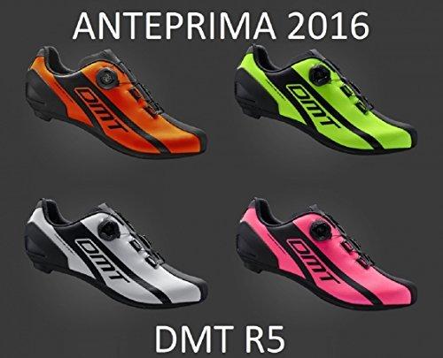 Gamma 2016 - 2017 Scarpe da Bicicletta STRADA / CORSA DMT R5 Suola FG COCEPT - Scegli COLORE e TAGLIA Rosa FLUO