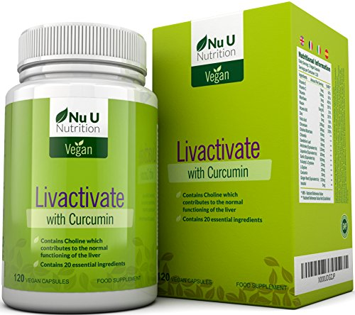 Livactivate Liver Cleanse with Curcumin All Vegan Liver Detox Capsules (not tablets) | 120 Capsules (4 Month Supply) | Contains 20 Essential Ingredients for Liver Support | Made in the UK by Nu U Nutrition