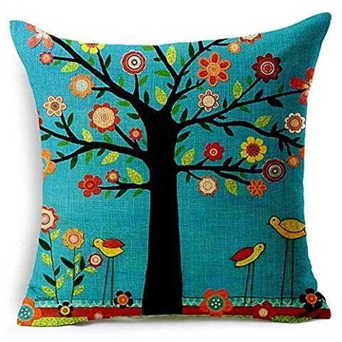 lhwy Couvre-lit en lin carré lin taie d'oreiller Coussin décoratif taie d'oreiller
