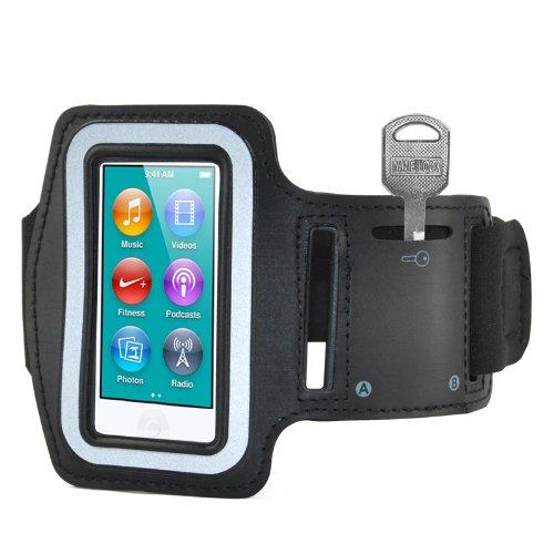 SODIAL(R) Brazalete Deportivo Gimnasio Negro para Apple iPod Nano 7 Generacion