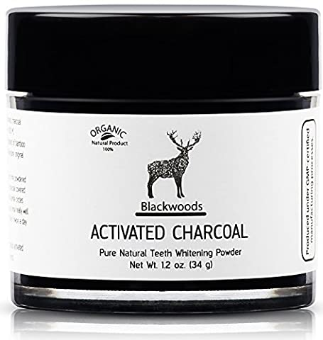 Blackwoods Charcoal Teeth Whitening | Activated Charcoal Teeth Whitening Powder,