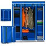 Kesser XXL Stoffschrank Kleiderschrank Faltschrank Schrank Faltbar Garderobe, Farbe:Blau