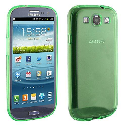 Urcover® Galaxy S3 Mini Hülle, TPU / Silikon Schutzhülle Ultra Slim Transparent Crystal Clear durchsichtig Klar Case Cover Smartphone Zubehör Schale Handyhülle für Samsung Galaxy S3 Mini Farbe: Grau Mint Grün