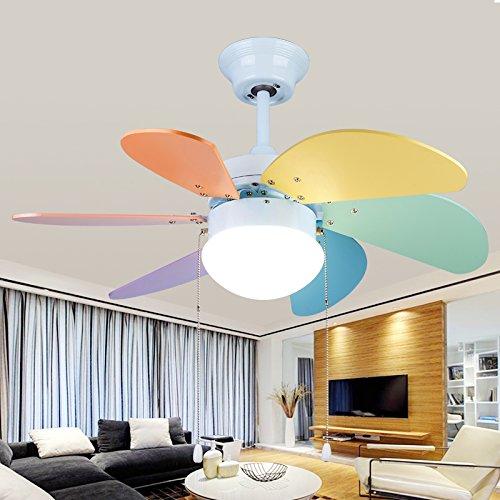 Hogar lámpara para la habitación de los niños lámpara con luz ventilador,...