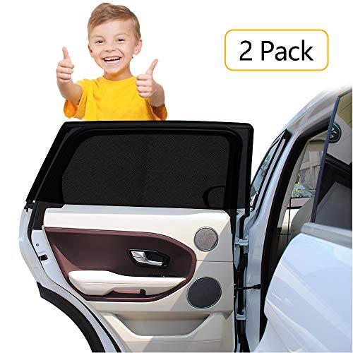 HWeggo Autofenster Sonnenschutz Heckscheibe, Sonnenschutz Auto Baby mit uv Schutz für Kinder Hund im Rücksitz- ohne Saugnapf Sonnenschutz ist für die meisten SUV Seitenscheiben passgenau-105x52cm