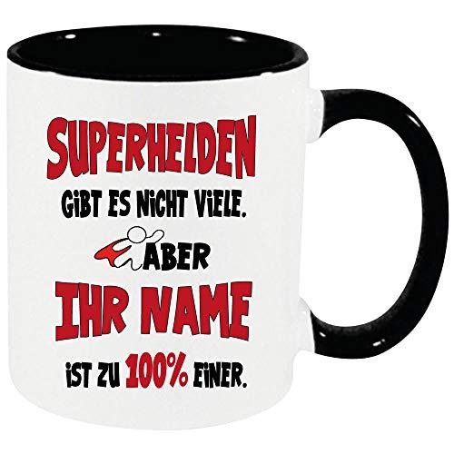 Frauen Schwarz Superheld/Superheldinnen zb. mit Ivonne bedruckt. Einfach Anpassen klicken und den Namen eintragen. ()