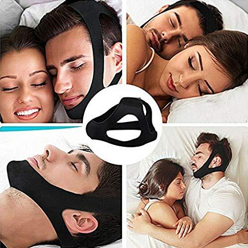 LOVEQIZI Anti-Schnarch-Kinnriemen, Schnarchstopper Anti-Schnarch-Geräte helfen Männern und Frauen, Besser zu schlafen, Effektivste Schnarchlösung und Anti-Schnarch-Geräte Kopfband-Schlafmittel