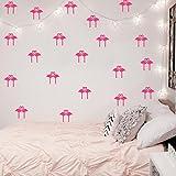 Lozse DIY handgemachte Wandaufkleber Flamingos Aufkleber 8 Stück