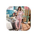 Heart .Attack Sexy Pajamas Damen-Pyjama aus Satin, Nachtwäsche, kurzärmeliges Oberteil und Lange...