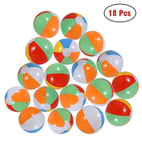 Twister.CK Beach Balls (18 Pack) - Aufblasbare Rainbow Beach Balls Beach Pool Partyspielzeug (Rainbow Beach Ball)