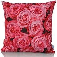 Sunburst Outdoor Living 60cm x 60cm PURITY Federa decorativa per cuscini per divano, letto, sofà (Rust Brown Set Esterno)