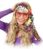 Orlob Kopfband Haarband Blumenwiese zum Hippie Kostüm an Karneval Fasching