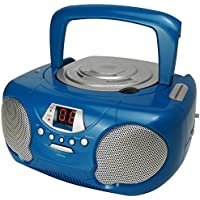 Groov-e Boombox Portable CD Player with Radio & Headphone Jack - Blue