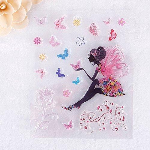 Zhuotop kleine Engel Gummi durchsichtiger Transparent Stempel DIY Collage