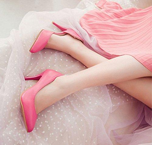 Aisun Femme Mode D'orsay Stiletto Escarpins Rouge