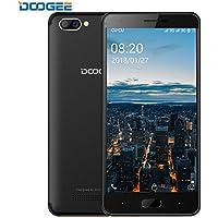 Smartphone Libre, DOOGEE X20 Móviles Libres Baratos, 3G Android 7.0 Telefonos - MT6580 mali-400 - 5.0 Pulgadas HD IPS Pantalla - 16GB ROM - 8MP Cámara - Dual SIM - Batería de 2580mAh (Negro)