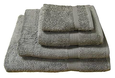 ShawsDirect Plain Egyptian Cotton Bath Sheets - Grey