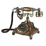 DIANHUA Antikes Telefon Retro Weinlese-klassisches Telefon W/ählscheibe Festnetztelefon Altmodisches Schnurgebundenes Telefon F/ür Office Home Decor Wundervolles Geschenk Kunsthandwerk