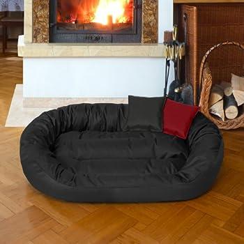 BedDog SUNNY, Noir, XXL 110x80 cm,Panier corbeille, lit pour chien, coussin de chien