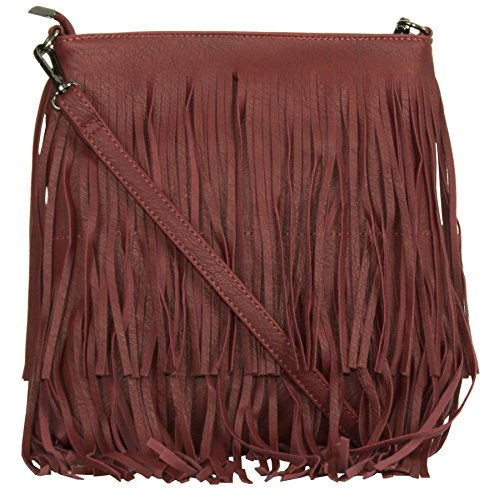 Big Handbag Shop, Borsa a mano donna Deep Red