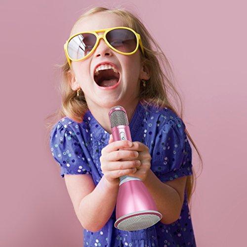 Tragbares Karaoke Spieler Drahtloses Mikrofon mit Bluetooth Lautsprecher für Party, Podcast,Zuhause,KTV, Singen kompatibel mit IOS Apple iPhone iPad Android Smartphone PC (Neu Rosegold) - 6