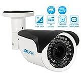 KKmoon 1080p AHD Bullet CCTV Analog-Kamera 2,8 ~ 12 mm Manuelle Zoom Vario Objektiv 1/3 Zoll für CMOS 2.0MP IR-CUT 42 IR-LEDS Nachtsicht Wetterfest Indoor Outdoor-Sicherheitssystem PAL